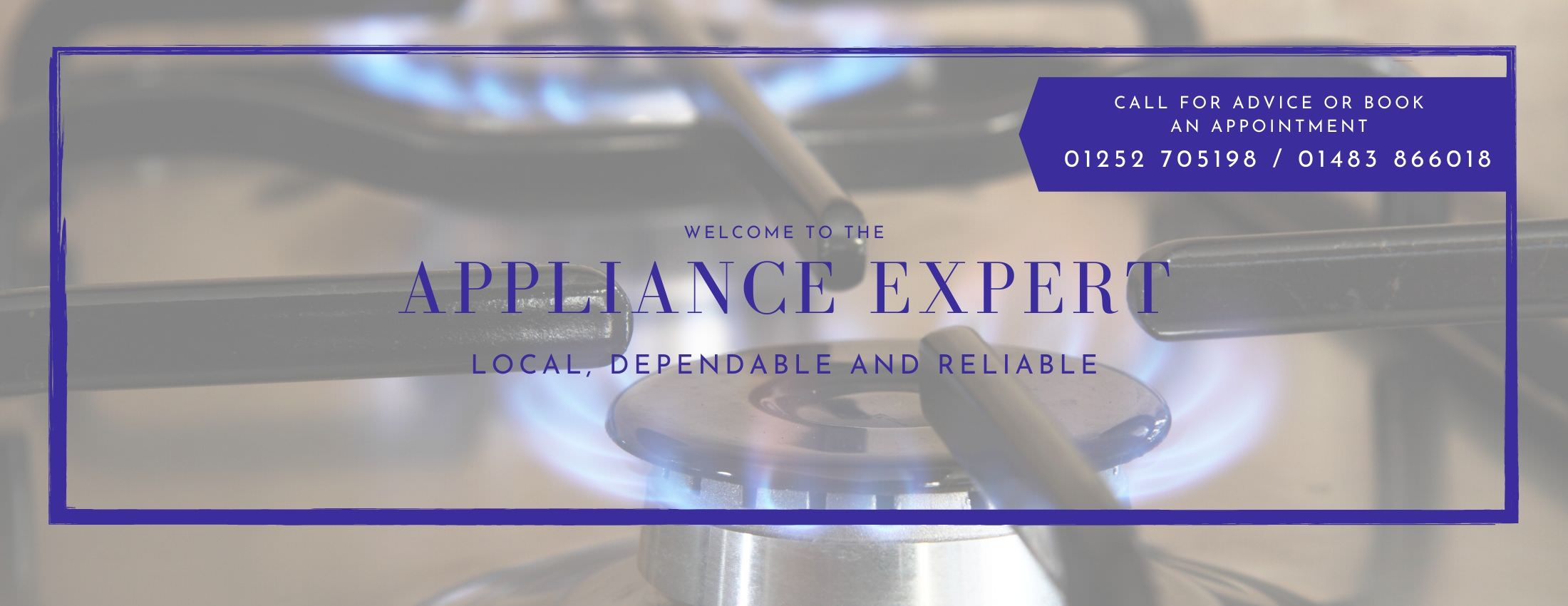Appliance Expert Domestic Covering the surrounding areas of Godalming, Farnham, Aldershot, Guildford and Haslemere.