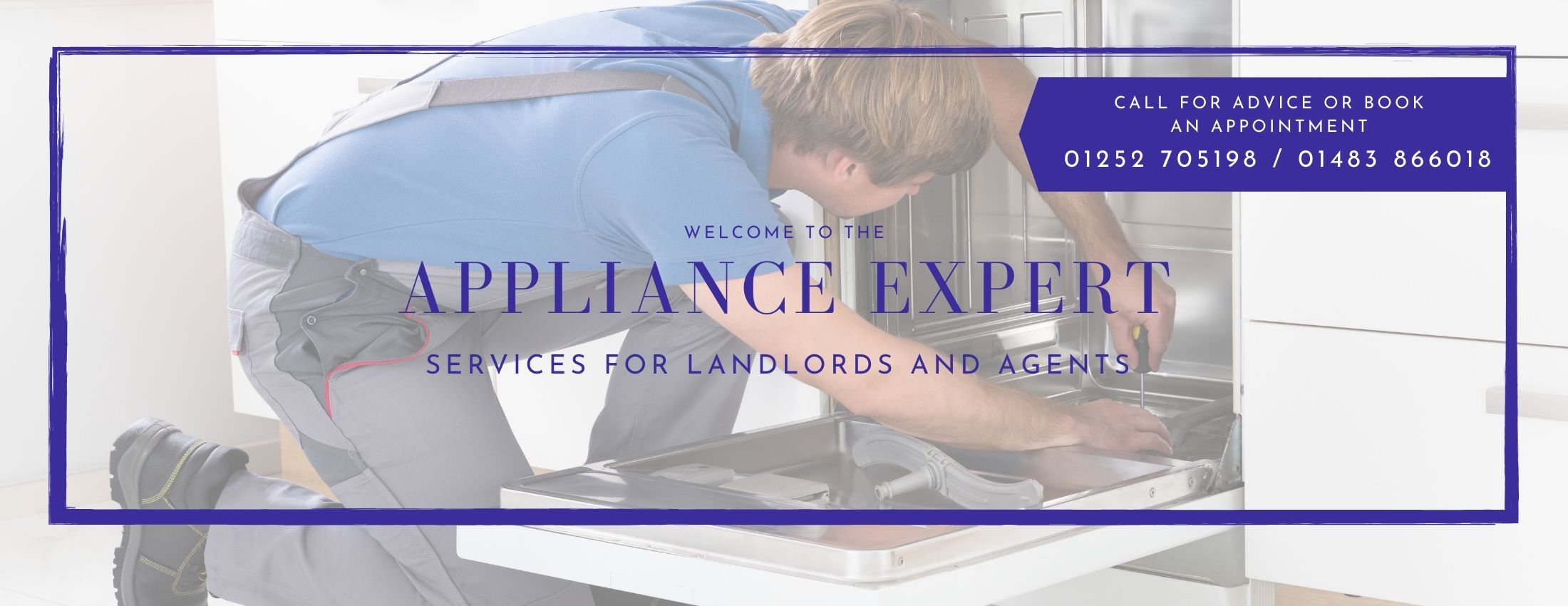 Appliance Expert offering services to landlords and agents.